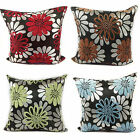 CUSHIONS CUSHION COVERS LARGE SET OF 4 CHENILLE FLORAL CUSHIONS 4 LOVELY COLOURS