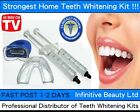 New Professional Home Teeth Whitening Bleach Kit Strong Tooth Whitener White cc