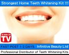 Professional Home Teeth Whitening Laser Bleach Kit Strong Tooth Whitener White