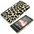 Back Cover Case Sony Xperia P LT22i Brown Leopard Pattern