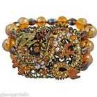 Kirks Folly Dragon Rider Stretch Bracelet (golden Envy) free fast ship