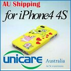 Cartoon SpongeBob SquarePants Hard Back Skin Case Cover For iPhone 4 4G 4S 12
