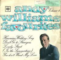 "ANDY WILLIAMS - ANDY WILLIAMS FAVOURITES VOL.1 - 7"" VINYL EP PS 1965 CBS"