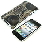 Hard Back Cover Case iPod Touch 4 4G 4th Gen Classic Boom Box Pattern