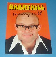 HARRY HILL GENUINE AUTHENTIC HAND SIGNED AUTOGRAPH 6x4 PHOTO CARD TV BURPS + COA