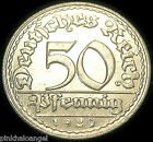 Germany - German 1920D 50 Pfennig Coin - VERY NICE COIN