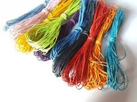 10m Waxed Cotton Cord - 1mm - Various Colours Available
