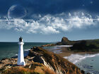 Lighthouse Over Ocean 11 x 14 GLOSSY Photo Picture IMAGE #2