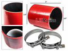 "RED 2.5"" 63mm 3-ply Silicone Coupler Hose Turbo Intake Intercooler Ponti"