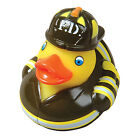 FIREMAN FIREFIGHTER RUBBER DUCK DUCKIE BATH NOVELTY TOY COLLECTABLE! NEW