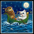 LIMITED EDITION THE OWL AND THE PUSSYCAT CAT PAINTING PRINT BY SUZANNE LE GOOD