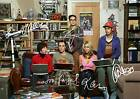 THE BIG BANG THEORY FULL CAST SIGNED AUTOGRAPH PHOTO PRINT POSTER