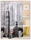 Shower Curtain with London's Big Ben Pattern made by PEVA 3E8