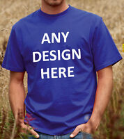 Personalised Tee Shirt Unisex T-Shirt Custom Printed with any Design or Wording