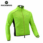 RockBros Cycling Coat Wind Coat Polyester Long Jersey Jacket Sleeve Green