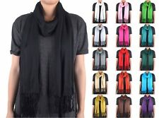 Solid Color Pashmina Cashmere Silk Wool Scarf Wrap Shawl Soft Classic Fashion