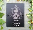 Quadrophenia Personalised Slate Artwork Door Shed House Number Plaque Sign