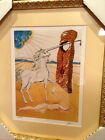 Salvador Dali Limited Number Signed Lithograph Agony of Love Unicorn Framed COA