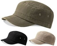 Mens Urban Army Cap - Peaked Sun Hat - Adjustable Baseball Cap - New