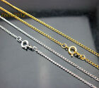 """30/50/100pcs With Clasp Silver Plated Curb Chain Necklace / Chain Finding 16.5"""""""