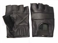 Leather Fingerless Gloves weight training  gym cycling and driving car use