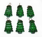 Antique-look Glass Ornament Set /6 for Vintage Finish Christmas Tree Decorations