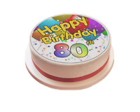 Happy Birthday Balloon Personalised Icing Cake Topper party decoration Any Age
