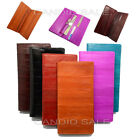 Slim Genuine EEL skin Long WALLET Mens Womens Purse with Coin Slot