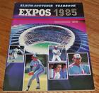1985 Montreal Expos Souvenir Yearbook NM *JB2