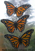BEA'S REAL STAINED GLASS EFFECT BUTTERLY WINDOW CLINGS