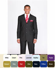 Men's basic  suit come in 20 + colors by Milaono Moda #802P