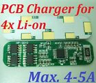 Max. 4-5A PCB Charger for 4 Packs 3.7V Li-ion Li Lithium 18650 Recharge Battery