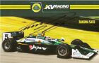 2011 TAKUMA SATO signed INDIANAPOLIS 500 PHOTO CARD POSTCARD IZOD INDY CAR LOTUS