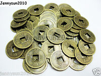50Pcs Alloy Metal Ancient Chinese Coin Shape Loose Beads Findings 17mm