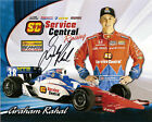 2011 GRAHAM RAHAL signed INDIANAPOLIS 500 PHOTO CARD POSTCARD IZOD INDY CAR wCOA