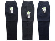 Boys School Uniform Pull Up Trousers * Full Elasticated Waist * 3 to 8 Years *