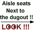 4 Seattle Mariners Tampa Bay Rays tickets Safeco Field 5/9 May 2016 DUGOUT