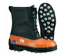 New Oregon 537310 Safety CHAINSAW FORESTRY BOOTS Leather Top - Caulked Sole