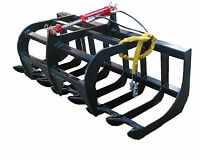 """72"""" E-SERIES SINGLE CYLINDER ROOT GRAPPLE BOBCAT SKIDSTEER ATTACHMENT"""