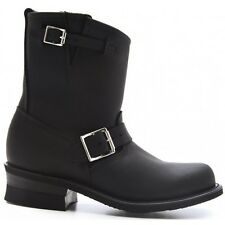 Frye Women's Motorcycle Engineer 8R Boots Black Leather 77500
