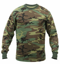 Woodland Camouflage  Long Sleeve Tactical Military T-Shirt - 6778 Rothco