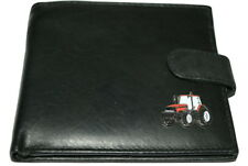 Case International Red Tractor Wallet Leather Black/Brown/Chestnut Gift Boxed