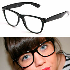 Fashion CLEAR LENS VINTAGE STYLE Hipster Glasses Sunglasses NERD GEEK RETRO