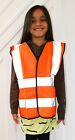 Hi Vis Orange High Viz Childrens Vest Visibility Waistcoat Jacket Kids Childs