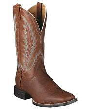 NEW ARIAT MENS 10005041 QUANTUM BRANDER BROWN OAK SHOULDER  LEATHER COWBOY BOOT