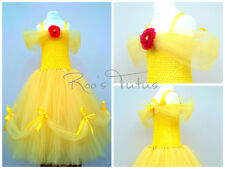 Disney Princess Belle inspired Tutu dress costume (Handmade) Party, Dress up