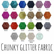 Chunky Glitter Fabric Mini Roll - 25cm x 100cm - High Quality - EN71 Certified
