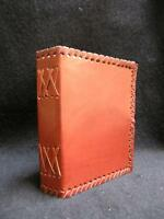Compact Handmade Leather Notebook Journal Diary - Handmade Cotton Paper