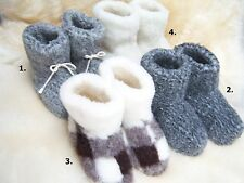 COZY FOOT, Womens/Ladies Pure Sheep Wool Sheepskin Slipper Boots