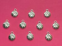 Tibetan Silver Basketball Charms 10 per pack - sports themes
